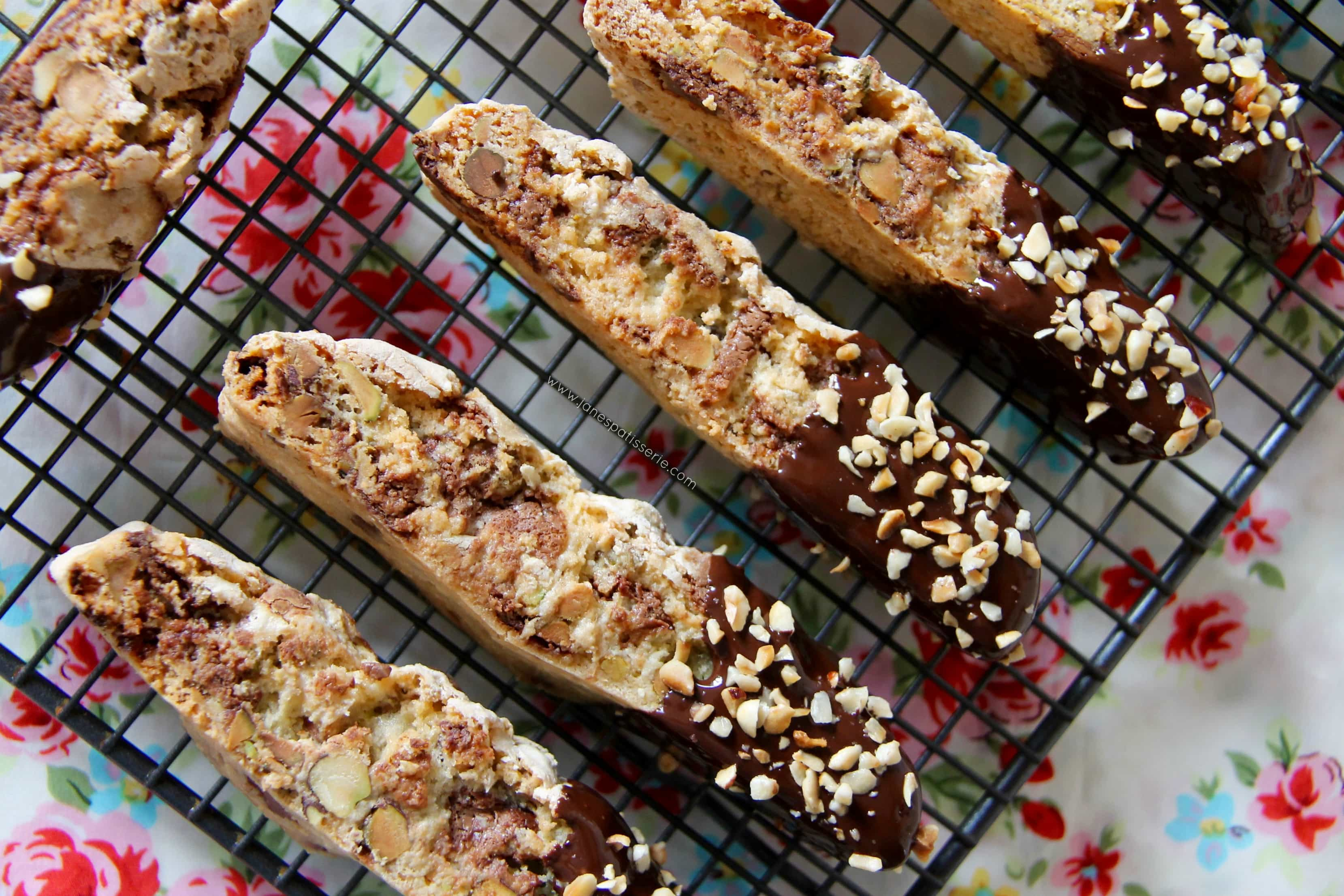 Pistachio Hazelnut and Chocolate Biscotti 6