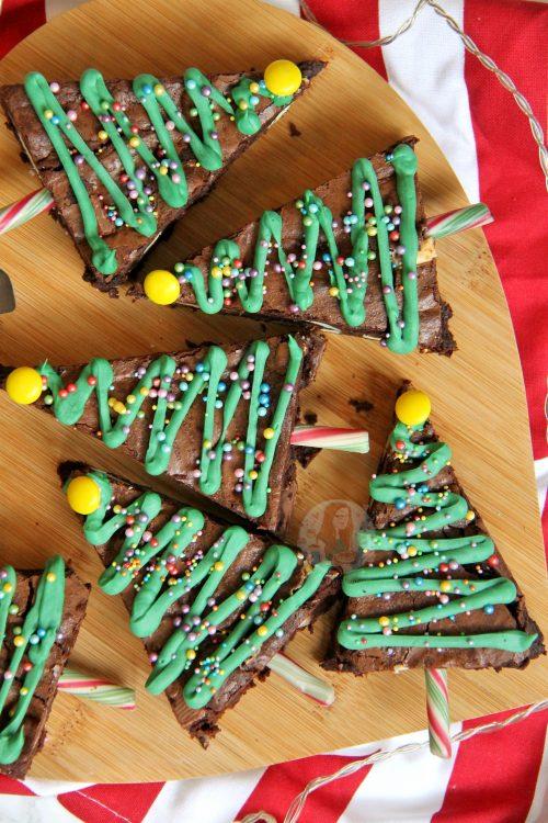 Christmas Tree Chocolate Brownies Jane S Patisserie