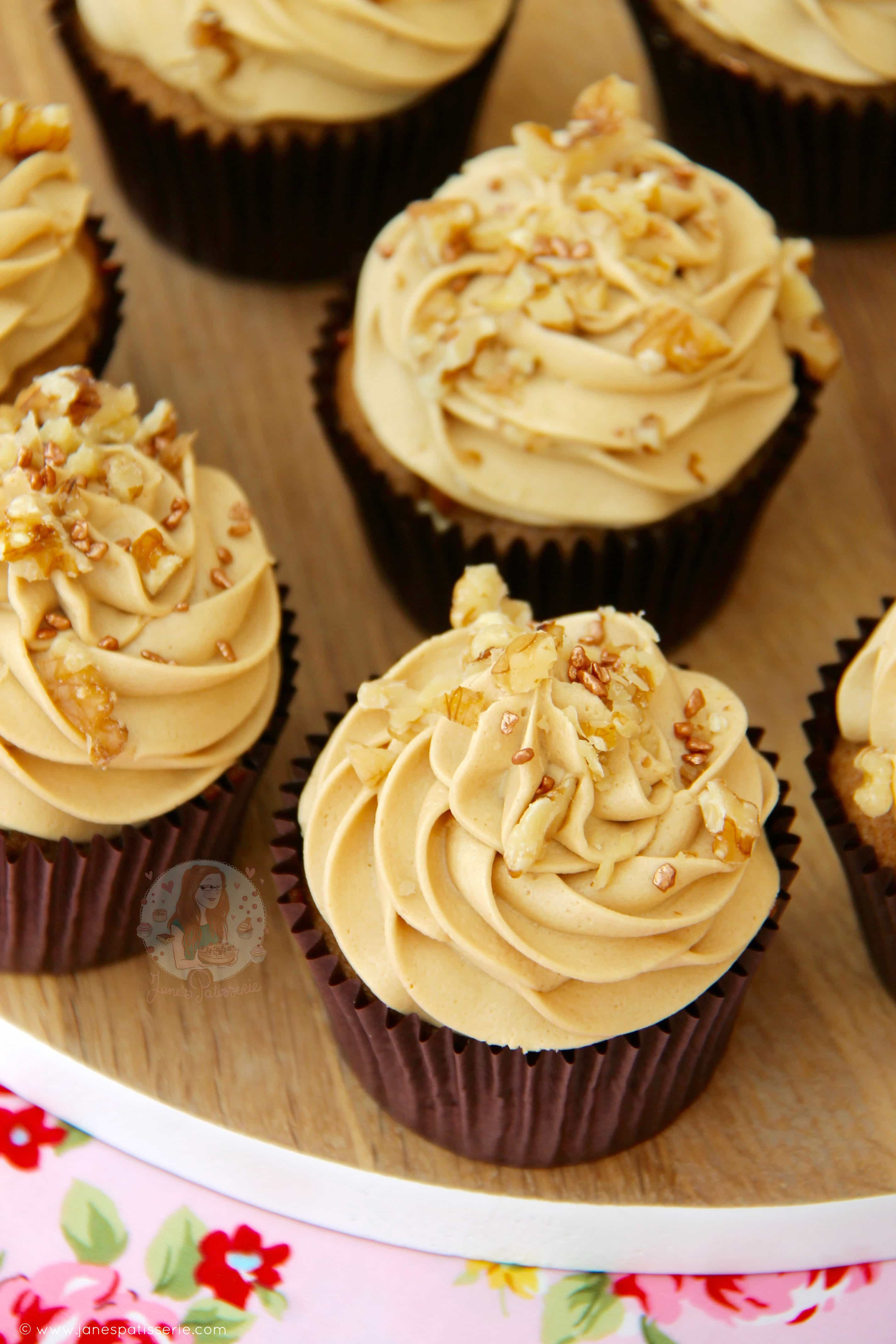 Coffee And Walnut Cupcakes Janes Patisserie