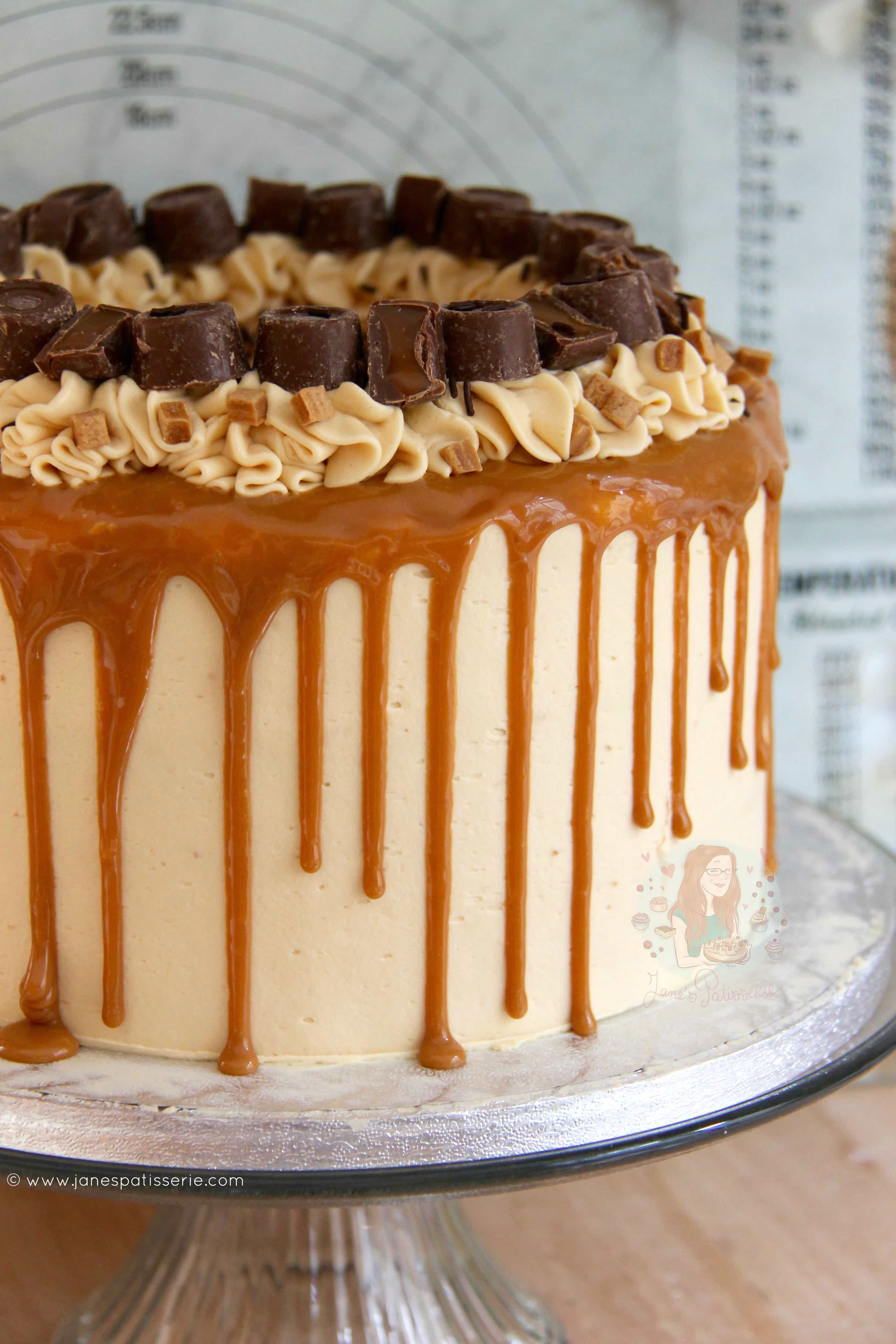 Salted Caramel Buttercream Recipe Cake