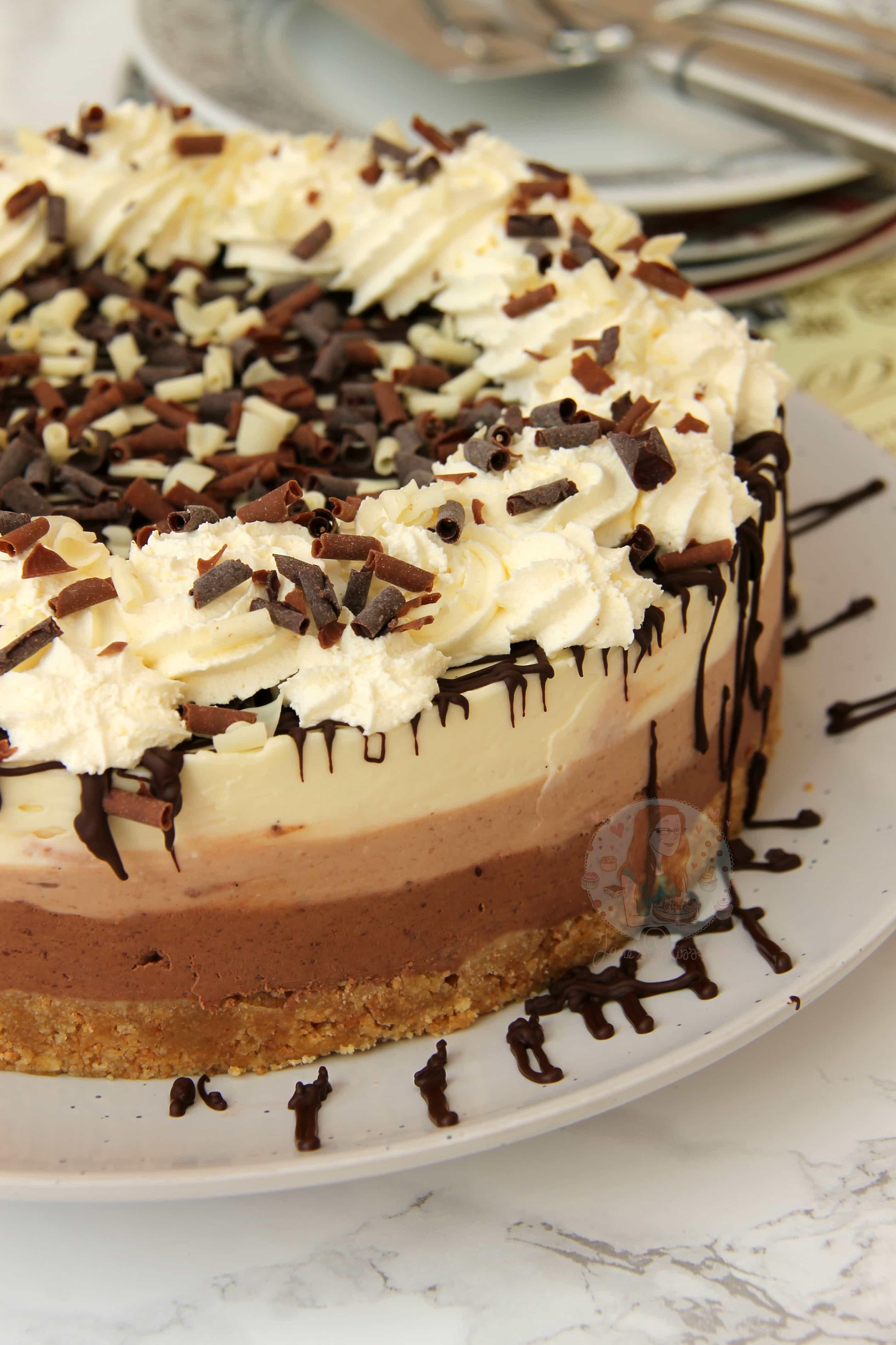 No Bake Triple Chocolate Cheesecake Jane S Patisserie