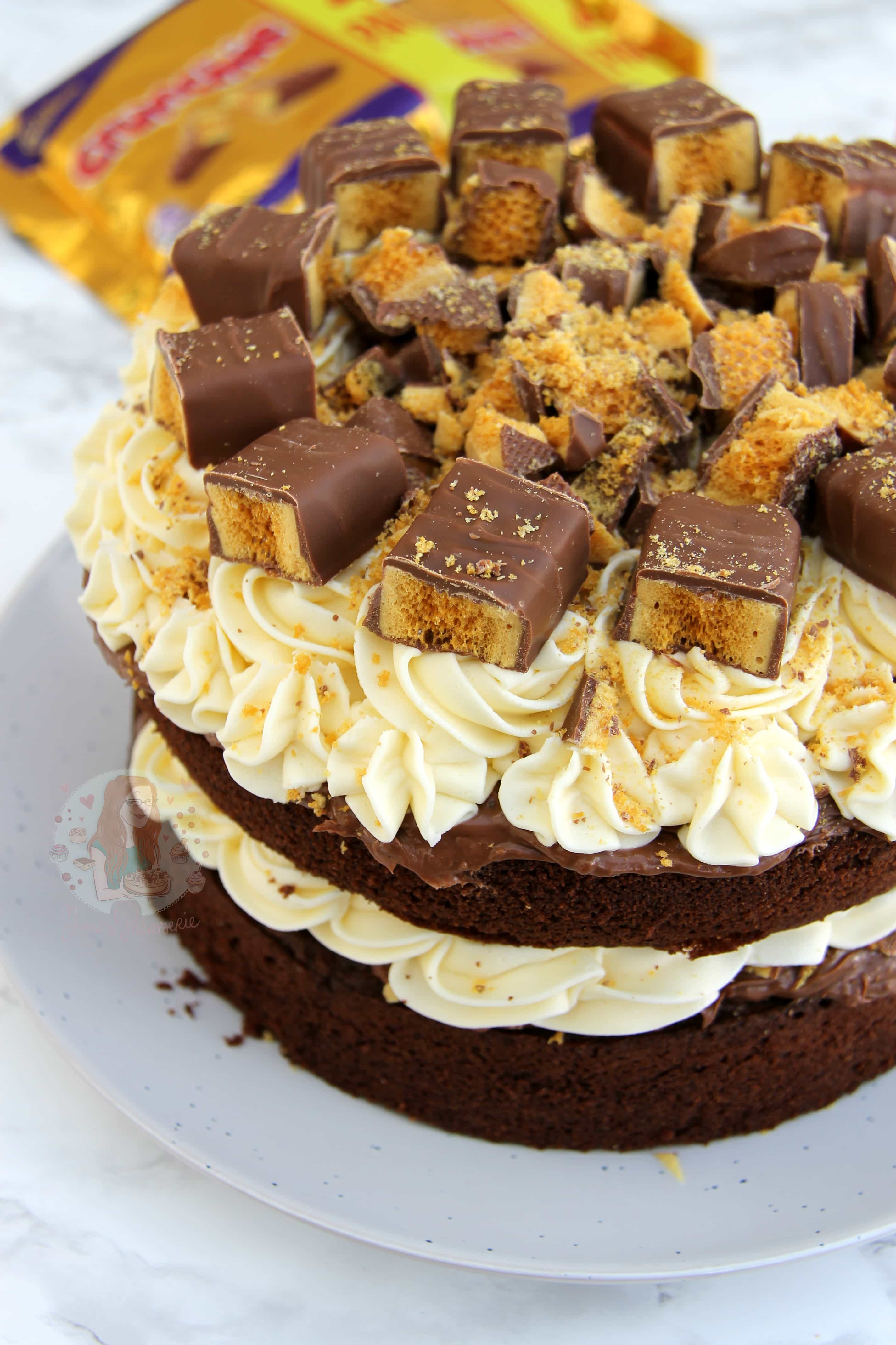Honeycomb Crunchie Cake Jane S Patisserie