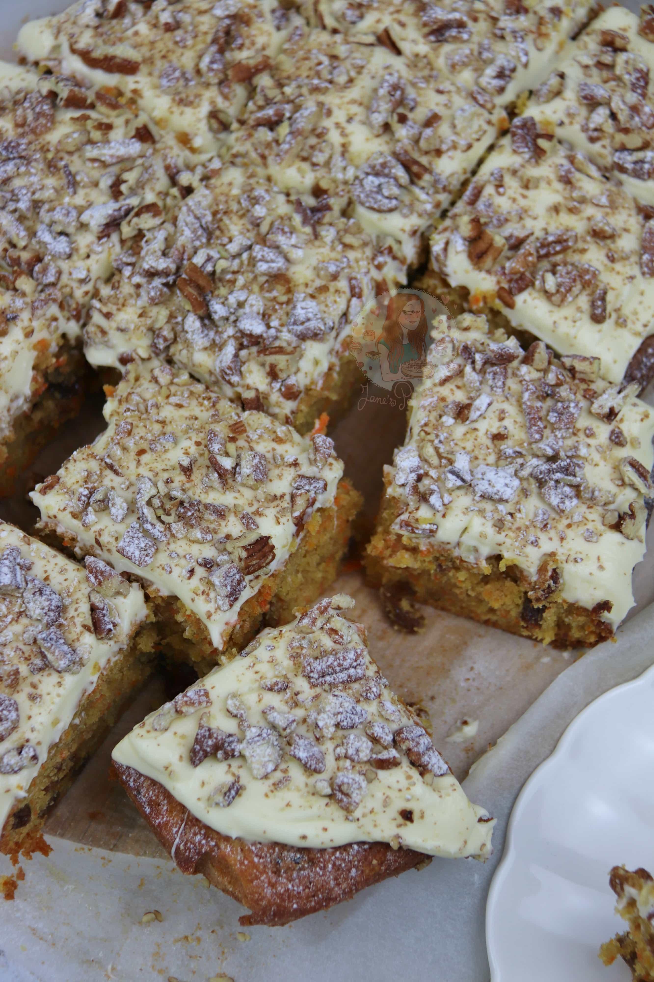 Carrot Cake Traybake Recipes