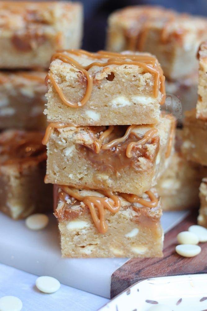 White Chocolate & Caramel Blondies! - Jane's Patisserie