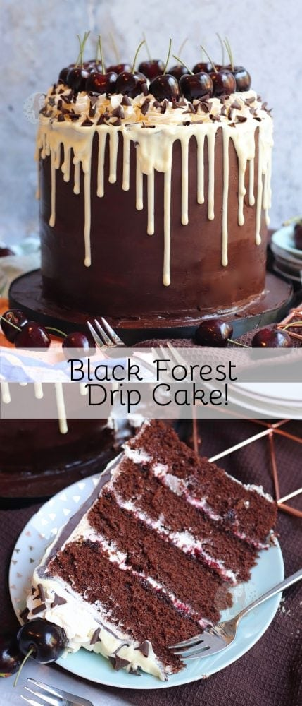 Black Forest Drip Cake!